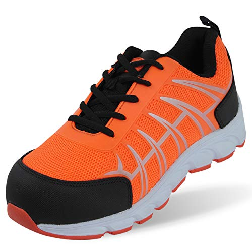 OUXX Steel Toe Work Shoes, Men's Safety Puncture Proof Construction Industrial Lightweight Sneakers