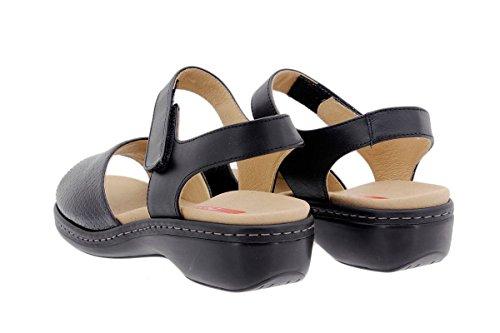 Confort Semelle Amovible Confortables Cuir En Noir Sandales Piesanto Chaussure À 1807 Amples Femme E8qcwZw6