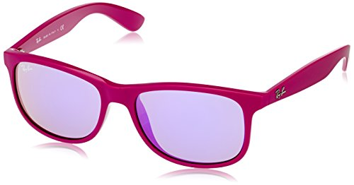 Ray-Ban ANDY - MATTE VIOLET Frame GREY MIRROR VIOLET Lenses 55mm - Bans Purple Ray
