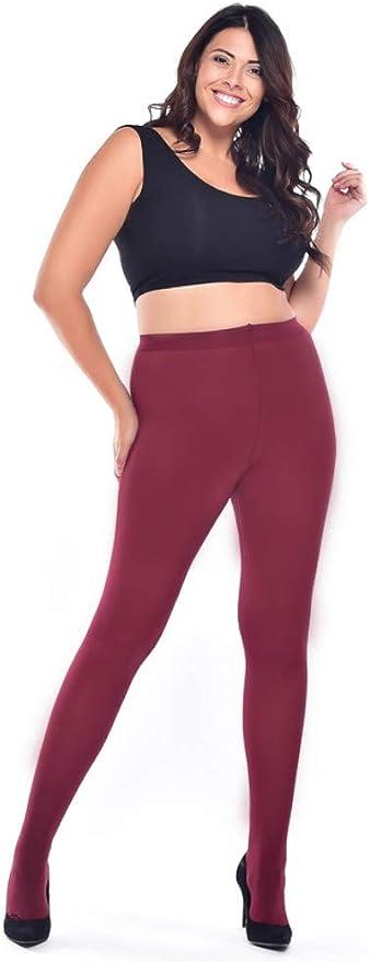 Pamela Mann Twickers Flo Purple//Black Plus Sized Tights
