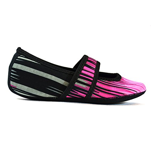 Pink Large Womens X Dance amp; Yoga Betsy Shoes Lou Foldable Aurora Slipper Flats Slippers Exercise Socks Shoes Nufoot Best Flexible Shoes Travel Socks amp; Shoes Slippers House Indoor EpqFwSO