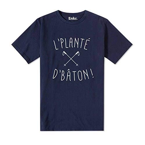 L'planté Enkr Homme T D'baton Bleu shirt tqq8wYH