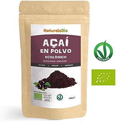 Bayas de Acai Orgánico en Polvo [Freeze - Dried] 200g. Pure Acaí ...