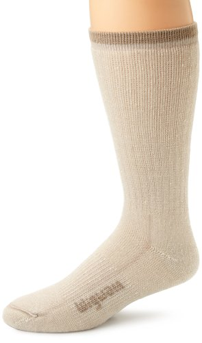 Wigwam Men's Merino Wool Comfort Hiker Crew Length Sock,Khaki,Medium/shoe Size:Men's 5-9.5,Women's 6-10 ()