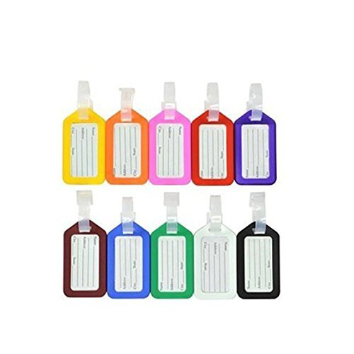 Bluecell 20pcs Plastic Luggage Tag for Carrying on Luggage, Baggage ID, Suitcase Label, Sports Bag (Plastic Tags Luggage)