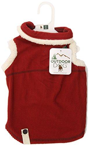 Cheap Fashion Pet Outdoor Dog Ribbed Polar Fleece Vest, Medium, Red