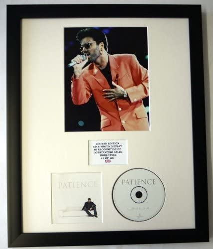 GEORGE MICHAEL//CADRE CD//EDITION LIMITEE//CERTIFICAT DAUTHENTICITE//PATIENCE