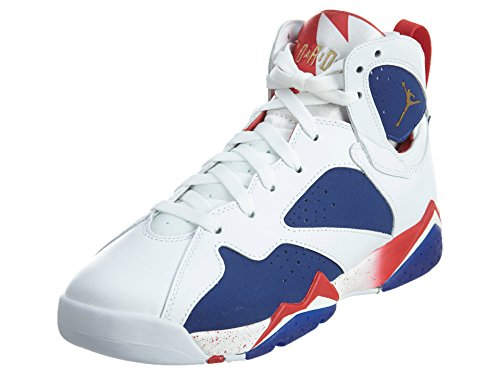 NIKE Boys Air Jordan 7 Retro BG Tinker Alternate Olympics White/Mtlc Gld CN-DP Ryl Leather Size 6Y by NIKE