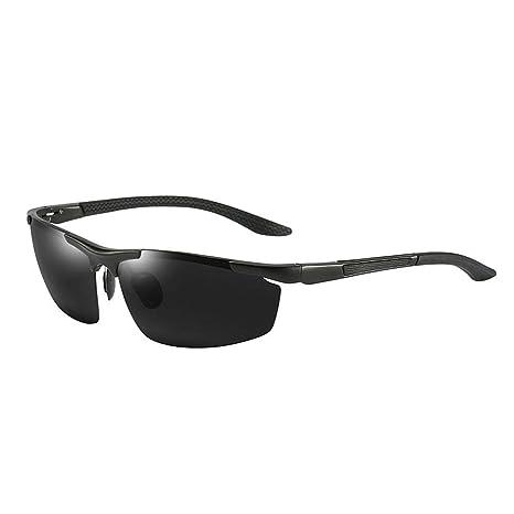 Occhiali da Sole Sportivi Polarizzati,Uomo e Donna Antivento Aviatore Specchio per MTB Bici Moto Generp Anti-UV Protezione Ciclismo Occhiali da Sole Trekking Casual