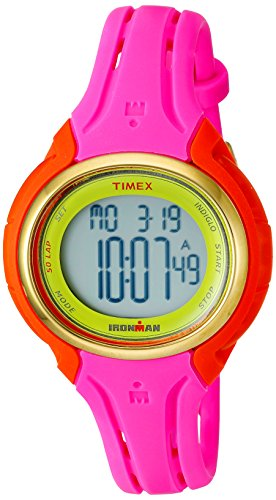 Timex Women's TW5M02800 Ironman Sleek 50 Pink Color Block Silicone Strap Watch -