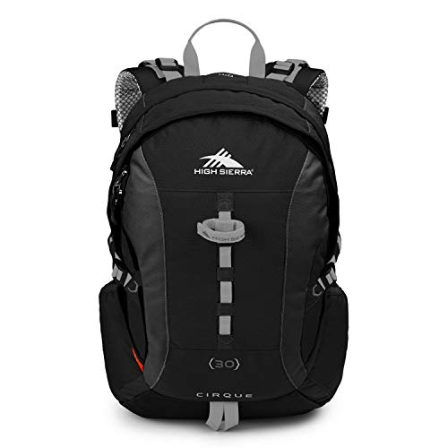 584ac318ce High Sierra Cirque Internal Frame Hiking Backpack, Black/Black/Silver