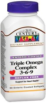 21st CENTURY OMEGA 3-6-9 COMPLEX ENTERIC COATED 90 Softgels