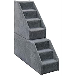 Bear's Stairs Mini Carpeted 7 Step Pet Stair Color: Beige