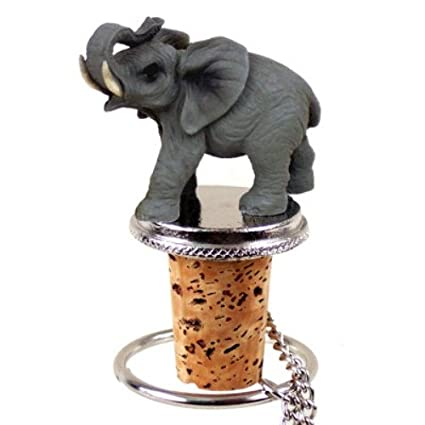 Wine Bottle Stopper   Elephant Decorative Cork