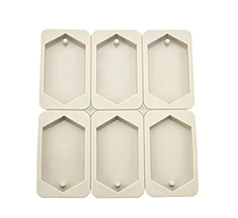 Astra Gourmet 6 Cavity Polygon Shaped Silicone Handmade Flexible Cake Soap Mold Scented Paraffin Candle Mold(Polygon)