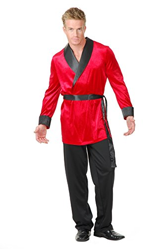 Charades Men's Velvet Smoking Jacket, red, Medium]()