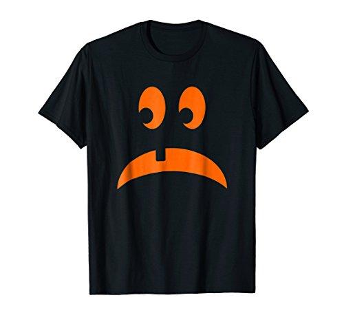 (Sad Pumpkin Face Orange Jack O Lantern Costume)