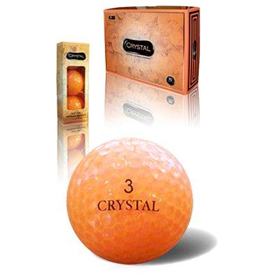 Fl Golf Crystal Soft Feel Golf Balls 12-Ball Pack Orange