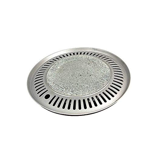 Korean BBQ Natural Stone Barbecue Grill Plate with Oil Discharge plate and Picker