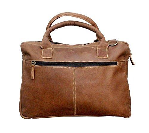 Tuzech rustico shopping stile bello pelle di bufalo borsa realizzata a mano Carry Bag–adatto per laptop fino a 39,6cm