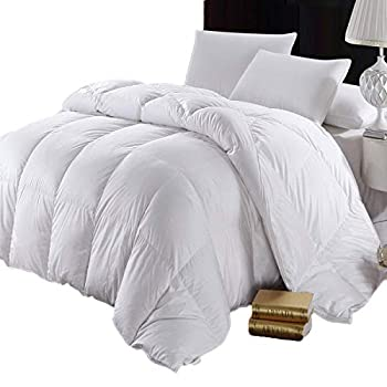 Image of Abripedic Goose Down 600-Thread-Count King / Cal-King Size Solid White Goose Down Comforter, 100 percent Cotton Shell, 600 TC - 750FP - 56Oz Home and Kitchen