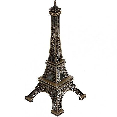 15 Cm Decoracion Del Hogar Romantico Paris Torre Eiffel Metalico - Decoracion-figuras
