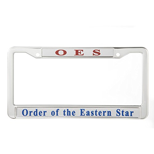 OES License Plate Frame Holder - Order of The Eastern ()