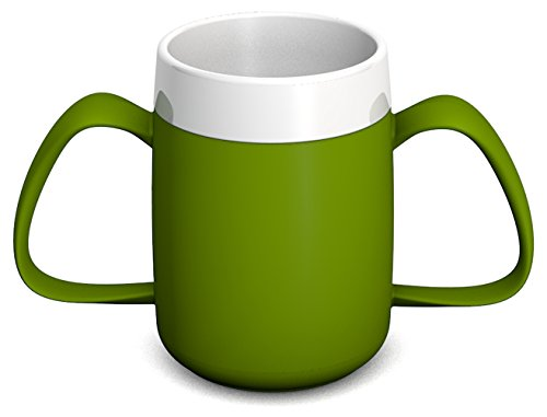 Ornamin Two Handled Mug with Internal Cone 140 ml Green (Model 815)   Drinking aid, Feeding Cup, Thermal Mug