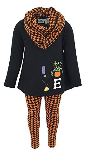 Unique Baby Girls 3 Piece Halloween Houndstooth Legging Set (4t)]()