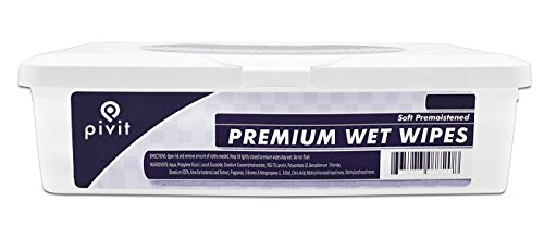 Pivit Cleansing Wet Wipes with Aloe & Lanolin | Fresh Scent | 9