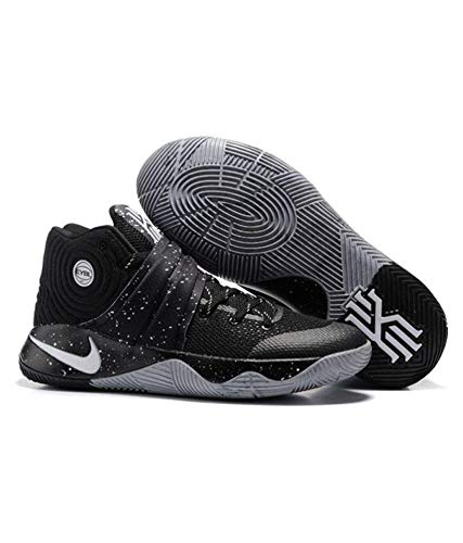 newest collection a6f0a 4561c Kyrie Men s Irving 2 EYBL Black Grey Basketball Shoes (9 ...