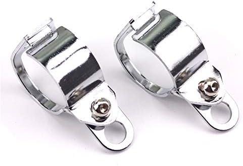 2x 30 45mm Universal Motorrad Blinker Halter Blinkerschelle Blinkerhalter Klammern Montagehalterung Silber Auto