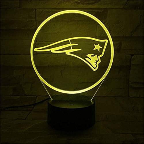 Night Lightsnew England Patriots Night Lamp Bedroom Touch Sensor Children Kids Gift Novelty Team Logo Led American Football AOXyd Novelty Lamp