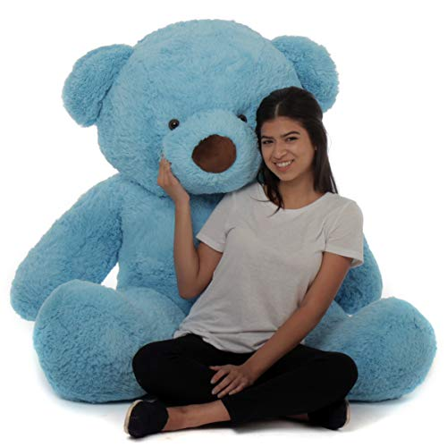 Giant Teddy Original Bear Brand - Biggest Selection of Life Size Stuffed Teddy Bears (Sky Blue, 5 ()