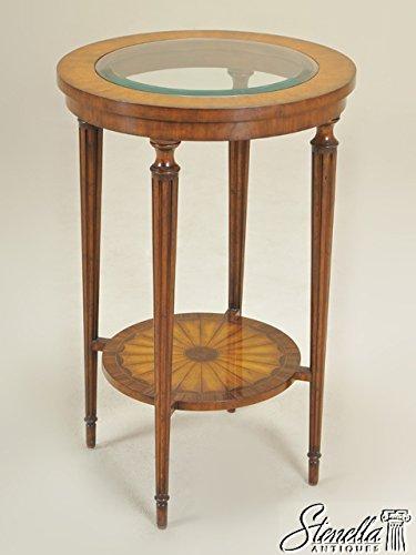 Maitland Smith Model #3030 969 Round Inlaid Mahogany Occasional Table ~ NEW