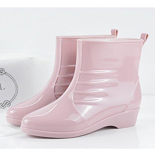 Slip 1 Ankle Shoes Women's Anti Boot Jelly Green Rain High Buckle Rubber Rain Waterproof qwqFxgn6