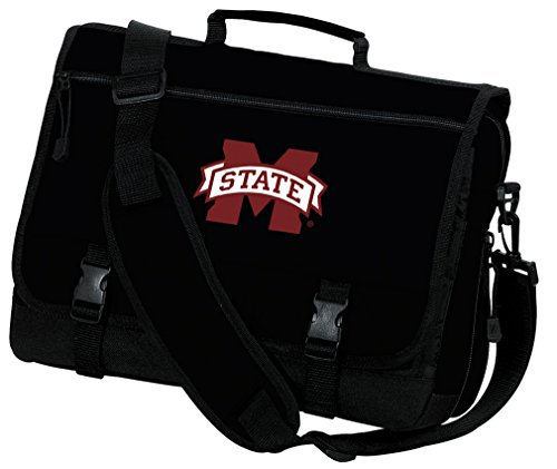 Mississippi State University Laptop Bag MSU Bulldogs Computer Bag or Messenger Bag by Broad Bay
