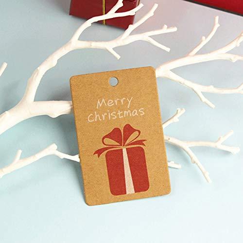 50 Small Pendant Hanger Tags, 50PCS/Set Christmas Series Vintage Tag DIY Blank Small Label Tag Kraft PaperGift