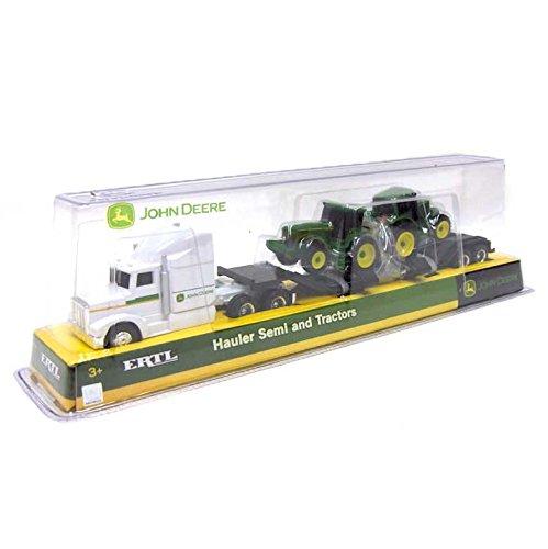 John Deere Farm Hauler Semi and 2 Bonus Tractors with Removable Trailer Play Set 1:64 Scale by John Deere (Image #1)