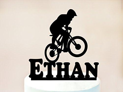 Decoración para tartas de montaña, para bicicleta con nombre personalizado, decoración para bicicleta, decoración para tartas, bicicleta, cumpleaños, decoración para bicicleta, decoración para tarta: Amazon.es: Hogar