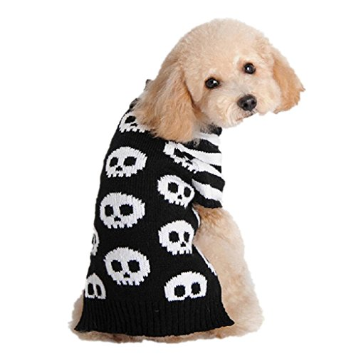 Mikey Store Pet Dog Clothes, Soft Knitwear Comfortable Pet Festival Sweater (L, Schwarz) (1 T-shirt Fan Pet Dog)