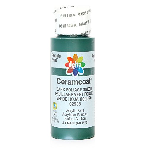 Delta Creative Ceramcoat Acrylic Paint in Assorted Colors (2 oz), 2535, Dark Foliage Green ()