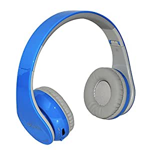 Beyution BT513 Bluetooth Headphones with Built in Mic for Cell Phone, Laptop, PC, Tablet - Retail Package - Blue