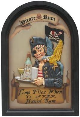 Ron pirata divertida náutico Tropical arte de pared ...