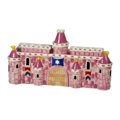 Ceramic Royal Castle Menorah Color: (Pink Menorah)
