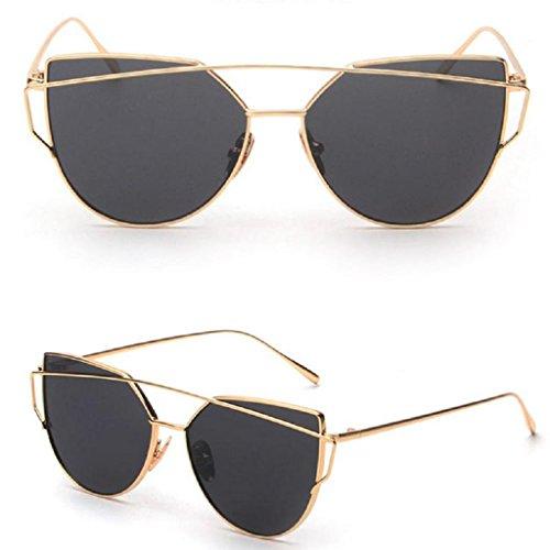 Niceskin Retro Cat Eye Sunglasses Shades for Women, Resin and Metal - Sunglasses Gd