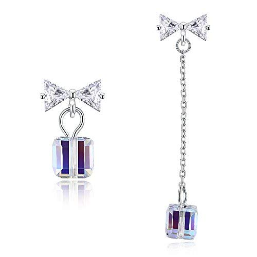 Drop&Dangle Earrings for Women- 925 Sterling Silver and Crystal from Swarovski Fine Jewelry Hypoallergenic - Perfect for Gift