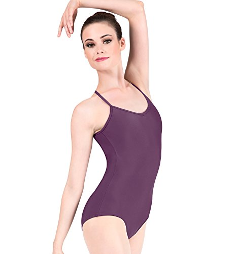 Adult Adjustable Strap Camisole Dance Leotard,D5100BLKM,Black,Medium