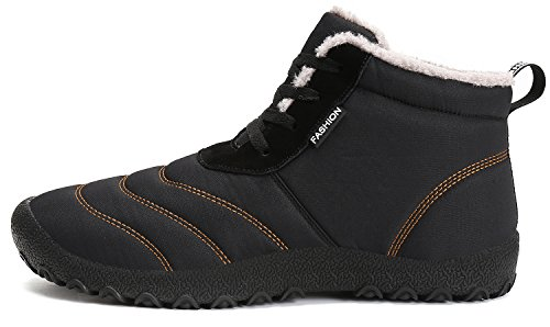 Dreamcity Womens Winter Snow Boots Impermeabile Outdoor Scarpe Outdoor Nere