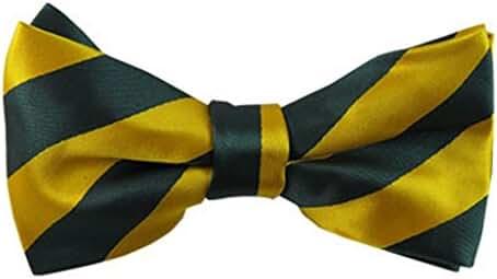 Vincent Apparel Collegiate Stripe Pre-Tied Bow Ties (Multiple Colors)